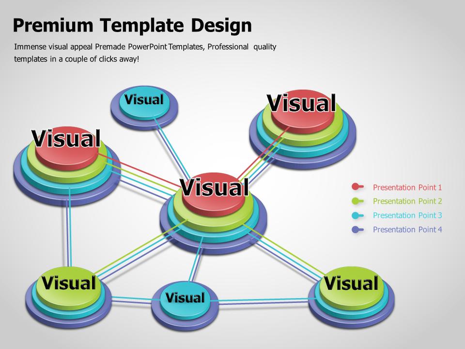 3D Layered Circle Multi-Directional Diagram