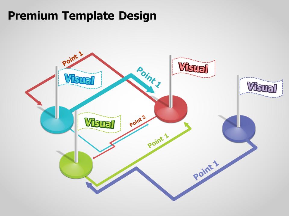 3D Flags Multi-Directional Diagram