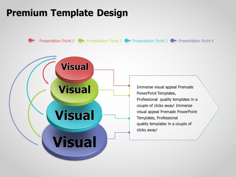 3D Circle Multi-directional Diagram