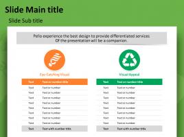 Eco 테마 비교 테이블