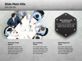 비즈니스 회의 이미지 사각박스