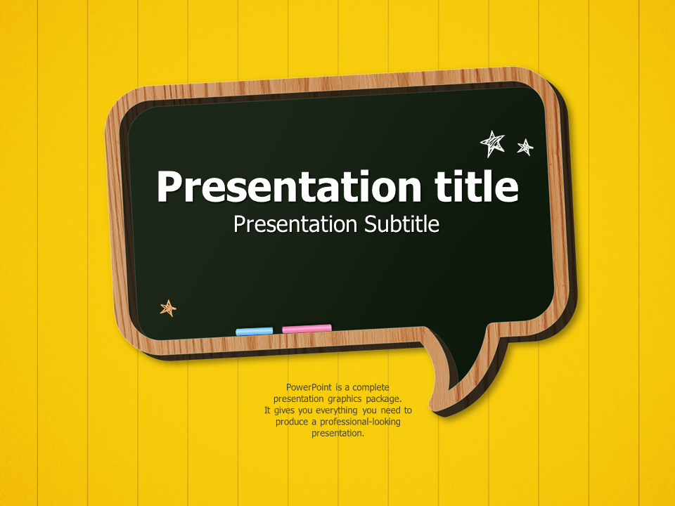 Blackboard powerpoint template goodpello blackboard powerpoint template toneelgroepblik Gallery
