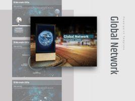 글로벌 네트워크 피피티 템플릿