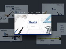 Blueprint PowerPoint Template Wide