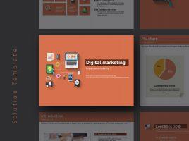 디지털 마케팅 피피티 템플릿