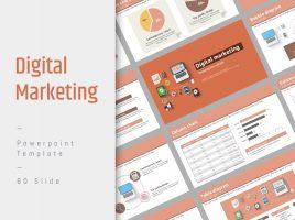 Digital Marketing PPT Template Wide