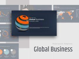 글로벌 비즈니스 와이드 파워포인트 템플릿