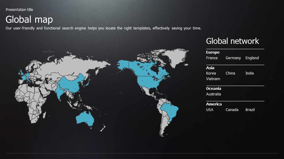 global business powerpoint template wide | goodpello, Presentation templates