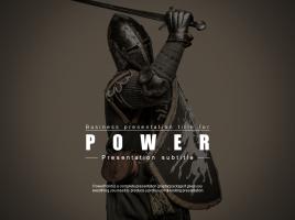 힘에 관한 피피티 템플릿