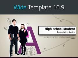 학교생활 와이드 피피티 템플릿