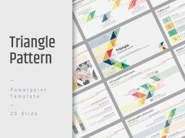 삼각형 패턴 와이드 피피티 템플릿