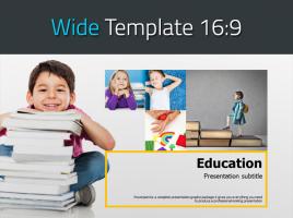 어린이 교육 와이드 파워포인트 템플릿
