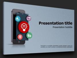 모바일 앱 피피티 템플릿