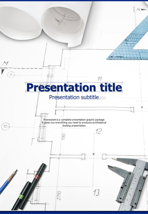 Blueprint powerpoint template vertical goodpello blueprint powerpoint template vertical malvernweather Images