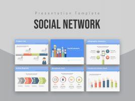 소셜 네트워크 피피티 템플릿