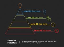 피라미드 모양 층상구조 다이어그램 6