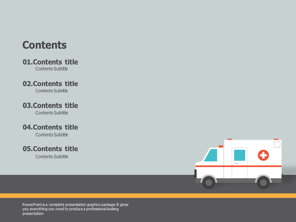 table of contents ppt template