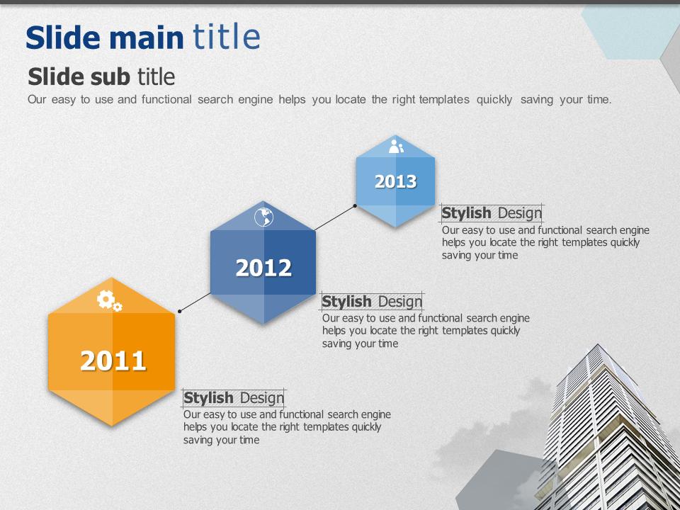 기업 이미지 선형 다이어그램