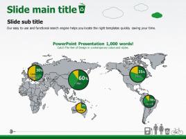 세계지도와 파이그래프
