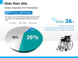 휠체어 입체 파이그래프