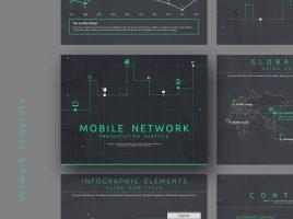 모바일 네트워크 파워포인트 템플릿