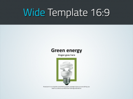 친환경 그린 에너지 와이드 파워포인트