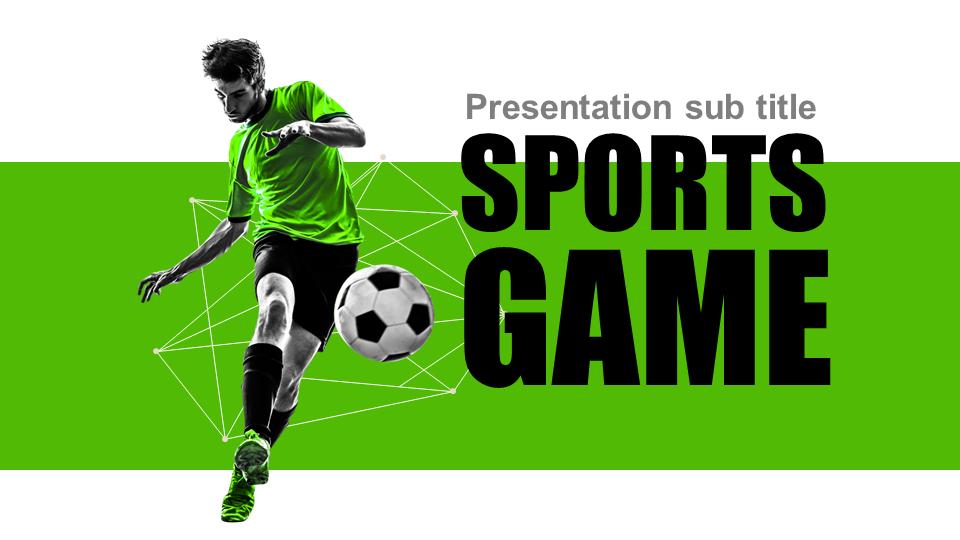 soccer powerpoint template wide   goodpello, Modern powerpoint