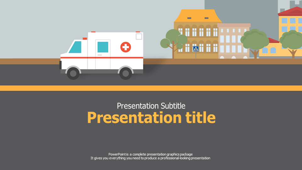 Pretty ambulance powerpoint template images gallery for Prophoto4 templates