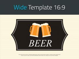 맥주 와이드 피피티 템플릿