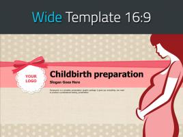임신 와이드 피피티 템플릿