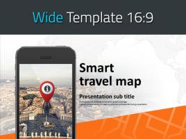 모바일 여행 지도 와이드 피피티 템플릿