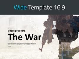전쟁 와이드 파워포인트 템플릿