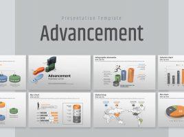 Advancement PPT Template Wide