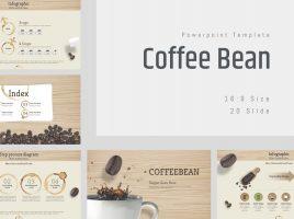 Coffee Bean Template Wide