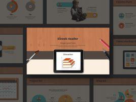 전자책 테블릿PC 와이드 템플릿 디자인