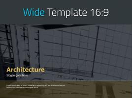 건축학 테마 와이드 피피티 디자인