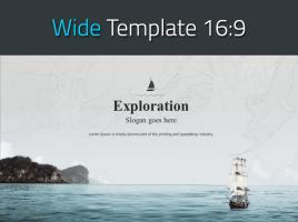 탐험 나침반 항해 와이드 피피티 템플릿