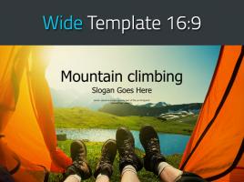 등산 레져 스포츠 와이드 파워포인트