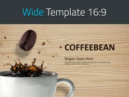 커피 원두 와이드 피피티 템플릿