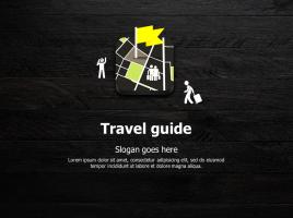 여행 어플 지도 피피티 템플릿