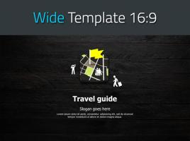 여행 어플 지도 와이드 피피티 템플릿