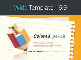 색연필 스케치북 와이드 템플릿 디자인