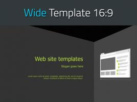 홈페이지 제작 와이드 파워포인트 템플릿