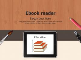 전자책 테블릿PC 템플릿 디자인