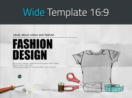 의류 패션 디자이너 와이드 템플릿
