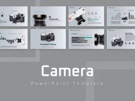 카메라 리뷰 와이드 파워포인트 템플릿