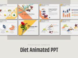 다이어트 음식 애니메이션 피피티