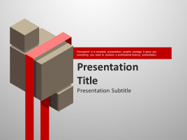 Ribbon PowerPoint Template Moving