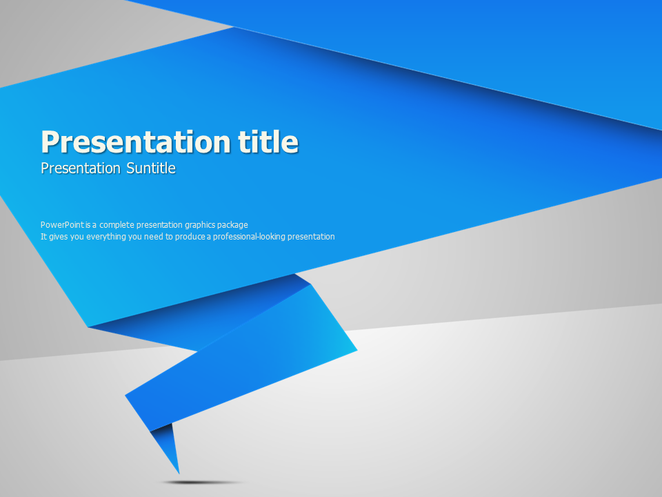 origami animated powerpoint template | goodpello, Presentation templates