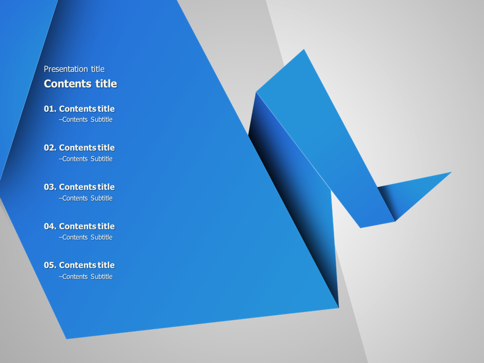 origami animated powerpoint template  u2013 goodpello